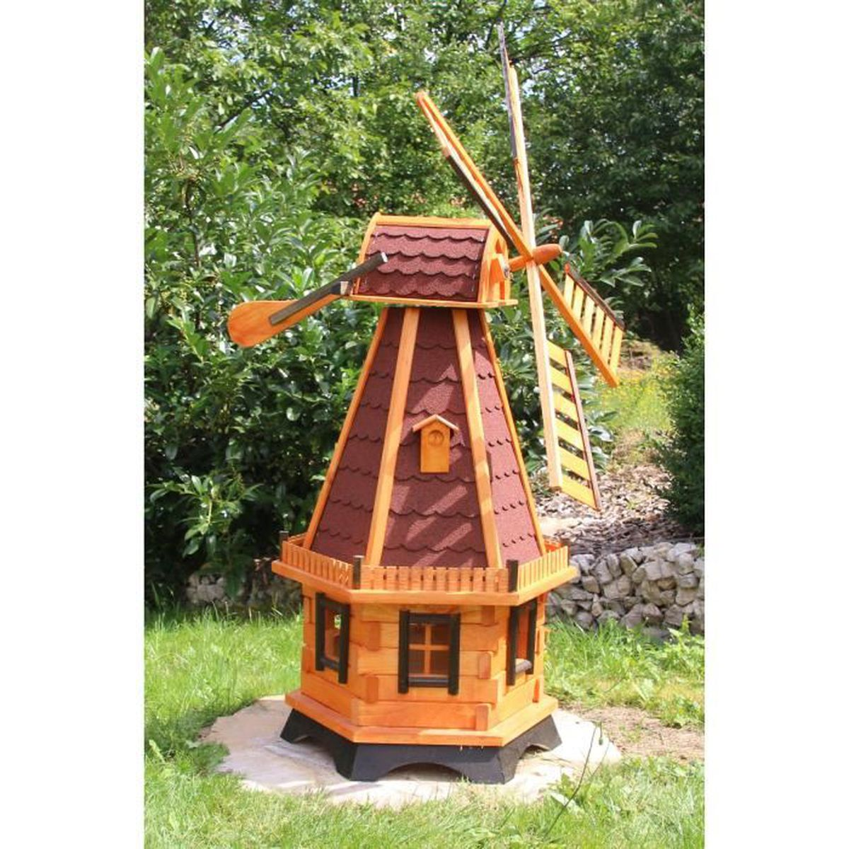 Moulin a vent decoration jardin moulin vent en bois for Achat decoration jardin