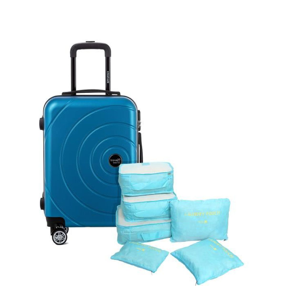 VALISE - BAGAGE TRAVEL WORLD Valise 50 Cm + Set de 6 Organisateurs