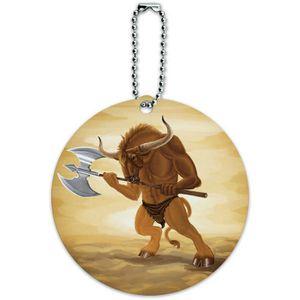 BRACELET DE MONTRE Men's Minotaur Fantasy War Axe Round Luggage ID Ta