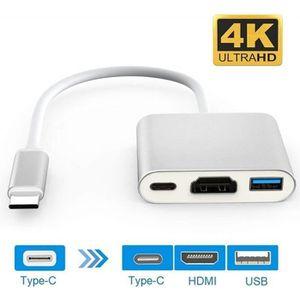 ADAPTATEUR AUDIO-VIDÉO  USB 3.1 Type-C Adaptateur HDMI 4K, Adaptateur USB