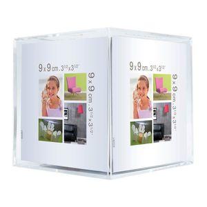 CADRE PHOTO Cadre photo cube cristal Bea 9x9 cm - Ceanothe, ma