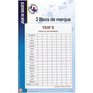 CARTES DE JEU 2 Blocs Yam's France Cartes