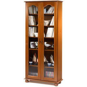 BIBLIOTHÈQUE  Bibliothèque 2 portes vitrées Vence - Chêne