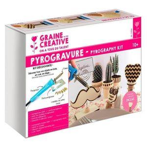 JEU DE GRAVURE - JEU DE PYROGRAVURE Kit decouverte pyrogravure 7 pannes + accessoires