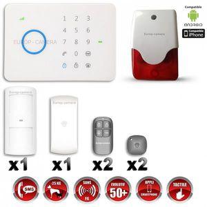 CAMÉRA DE SURVEILLANCE Alarme maison - Système d'alarme sans fil GSM i…