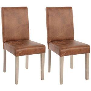 CHAISE Lot de 2 chaises de séjour Littau, fauteuil ~ tiss