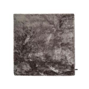 COUVERTURE - PLAID Tapis shaggy à poils longs Whisper Gris 60x60 cm -