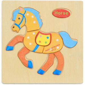 PUZZLE  1Pc 3D jouets puzzle en bois éducatif jigsaw appr