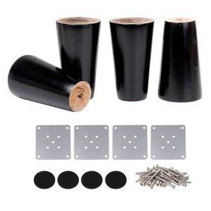SET de 4 x SO-TECH/® Pied de Meuble JIMMY Blanc /Ø 50 mm//Hauteur 80 mm Pied pour Canap/é