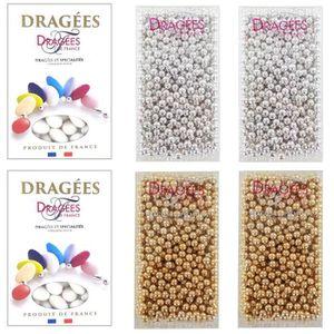 DRAGÉES DRAGEES DE FRANCE Sélection Perles de sucre dorées