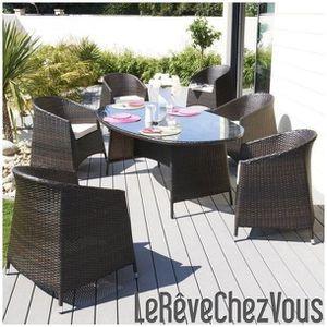 Ensemble Djerba Table Ovale Résine Tressée 200C... - Achat ...