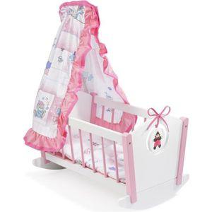 Chambre des enfants 3-Partie miniature BAMBI pour lit enfant 1:12 linge de lit