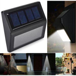 APPLIQUE EXTÉRIEURE 2pcs / set 6LED escaliers solaires de mise à nivea