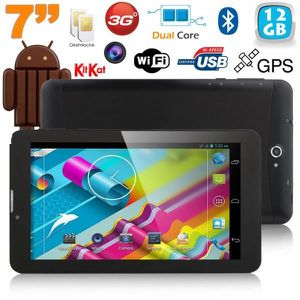 TABLETTE TACTILE Tablette 3G 7 pouces GPS OTG Android 4.4 Double SI