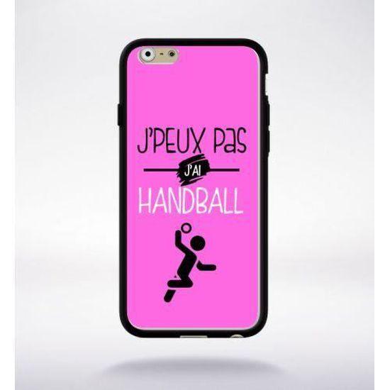 Coque j'peux pas j'ai handball 5 compatible iphone 6 bord noir ...