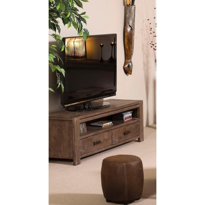 bastia meuble tv 140 cm acacia achat vente meuble tv bastia meuble tv 140 cm bois panneaux. Black Bedroom Furniture Sets. Home Design Ideas