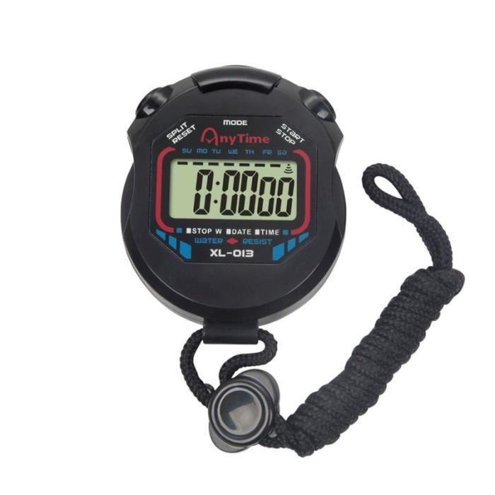 Chronomètre LCD numérique professionnel portable avec fonction d'alarme minuterie chronographe pour arbitres CHRONOMETRE
