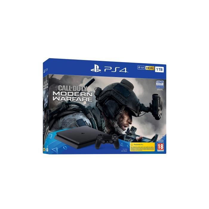 PS4 BLK 1TB+CALL OF DUTY