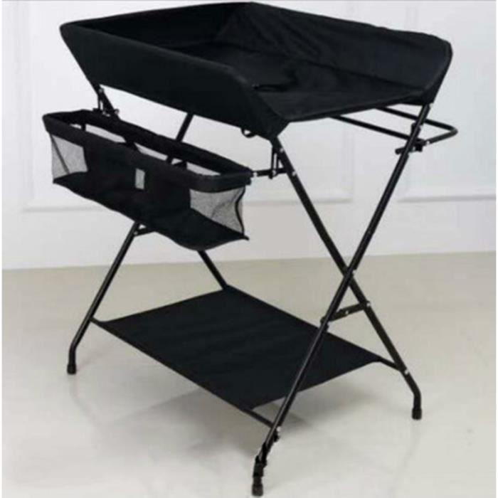 Table à langer pliable pour bébé 0-24 mois - noir