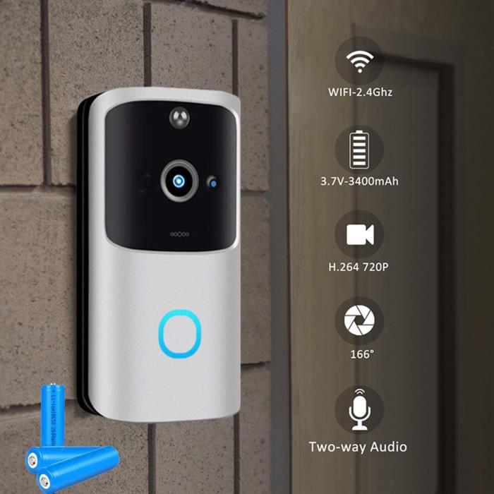 Sans fil WiFi DoorBell Smart Video Phone Interphone visuel Door Bell Secure Camera