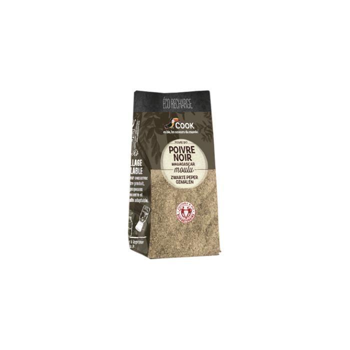 Poivre noir poudre éco recharge 45gr - Cook