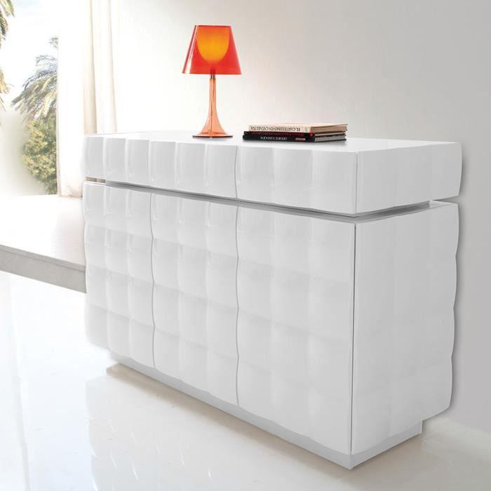 Buffet design blanc laqué SIDNEY