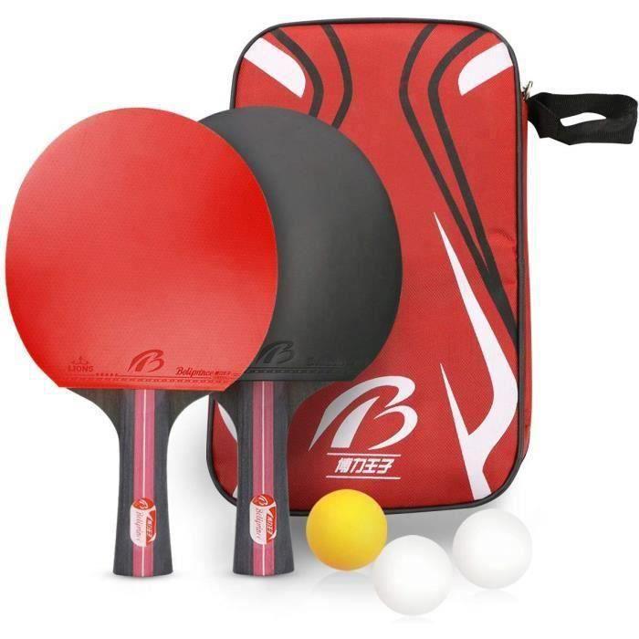 Raquette de Ping Pong Set, ping Pong Portable Raquette de Tennis de Table pour Débutants et Joueurs Avancés