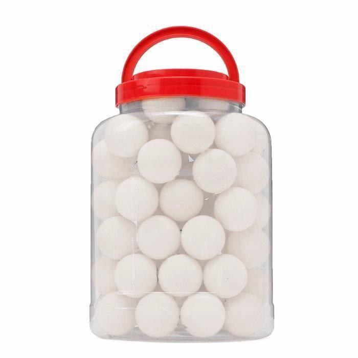 WANG TEMPSA lot de 60Pcs Balle de Ping Pong Tennis Table Pour Enfant sport jouet noel blanc