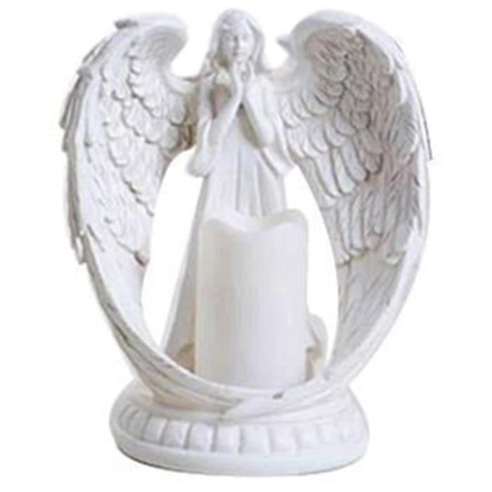 Creative Résine Ange Figurines Électronique Chandelier Artisanat Home Decor Ange Miniature Bougeoir Ornements De Mariage Cadeaux S