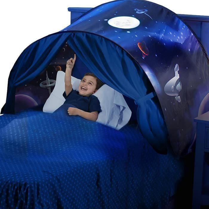 Tente de Jeu Lit Enfant Garçon Fille Ciels Tente de Rêve Moustiquaires (Aventure Spatiale)