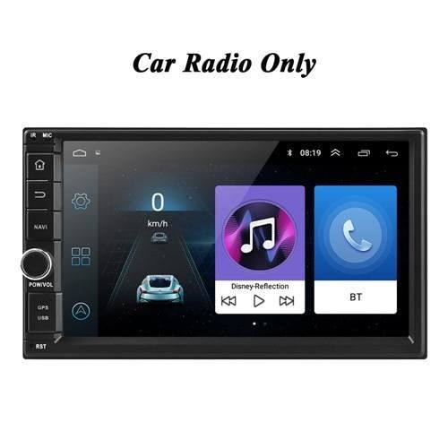 Radio seulement autoradio universel Android 8.1, 2 din, Bluetooth, GPS, WIFI, lecteur multimédia, ISO, Androi