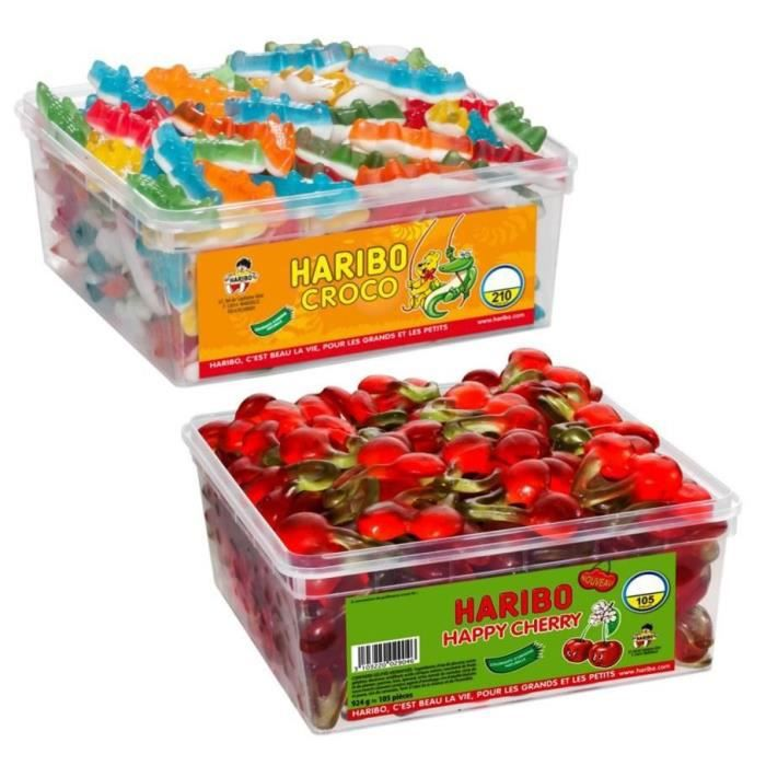 HARIBO Bac 210 Croco + Bac 105 Happy Cherry