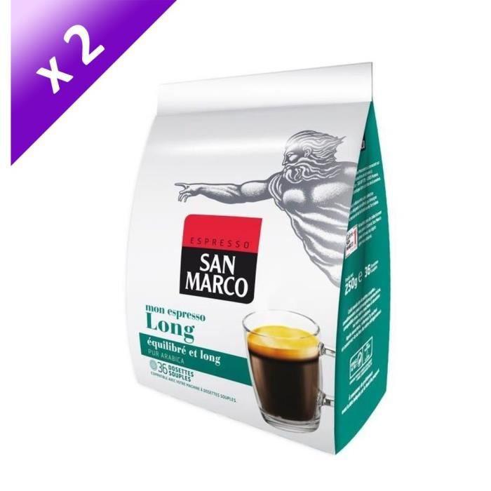 [LOT DE 2] SAN MARCO Long - 36 Doses - Compatible Senseo