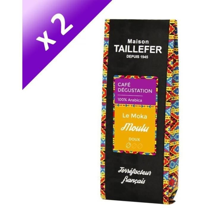 [LOT DE 2] MAISON TAILLEFER Le Moka - Café Dégustation Moulu 250g