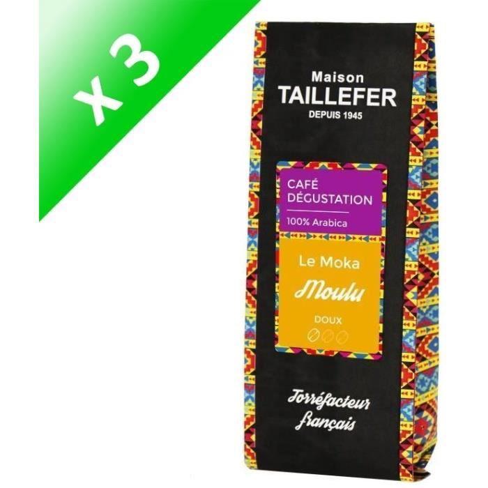[LOT DE 3] MAISON TAILLEFER Le Moka - Café Dégustation Moulu 250g