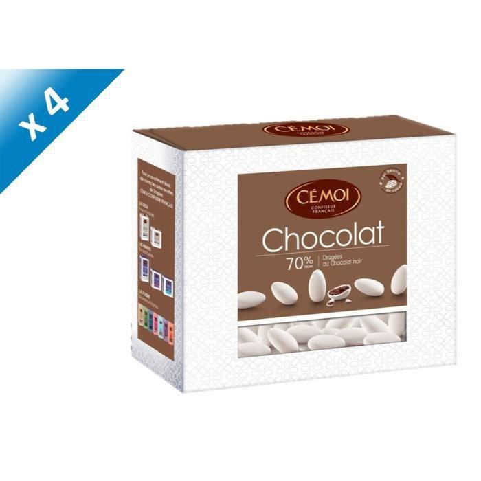 [LOT DE 4] CEMOI Boîte Dragées chocolat blanc - 375 g