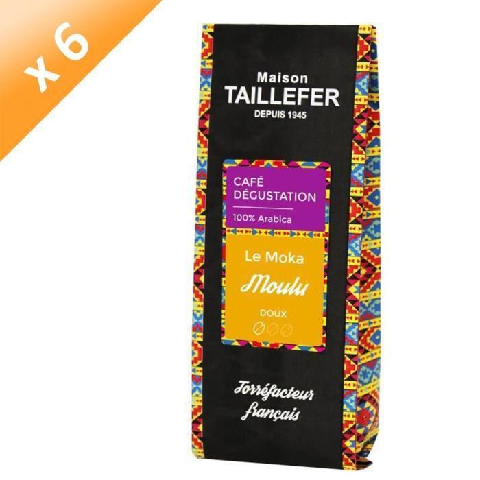 [LOT DE 6] MAISON TAILLEFER Le Moka - Café Dégustation Moulu 250g