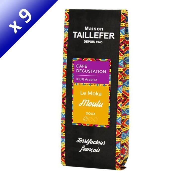 [LOT DE 9] MAISON TAILLEFER Le Moka - Café Dégustation Moulu 250g