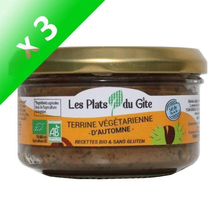 [LOT DE 3] LES PLATS DU GITE Terrine Végétarienne d'Automne - Bio - Végan - 120 g