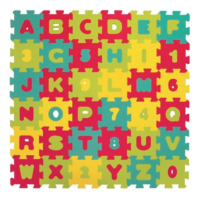LUDI – Tapis de sol Lettres et chiffres - dès 10 mois - Puzzle géant