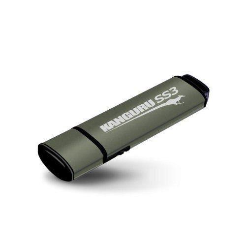 Kanguru SS3 Clé USB avec Protection contre l'écriture Non-Crypté 64 Go USB 3.0 Marron