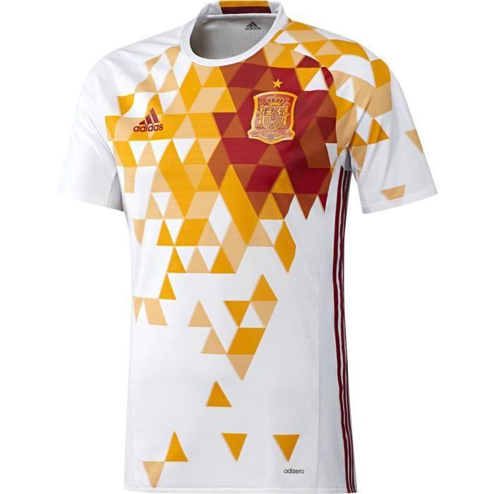 ADIDAS Maillot de football Espagne - Réplique -Blanc et Rouge