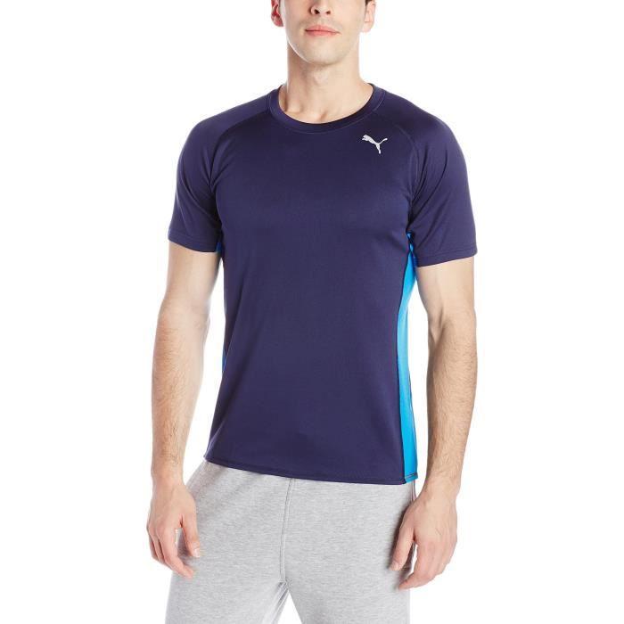 PUMA Manches courtes Homme Courir T-shirt noir, 2x-grande 3V3MYF Taille-S