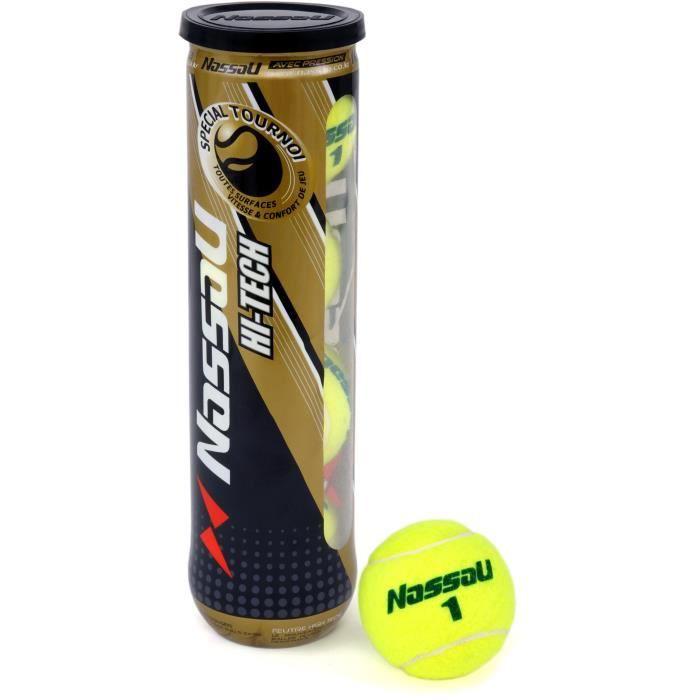 NASSAU tube de 4 balles de tennis