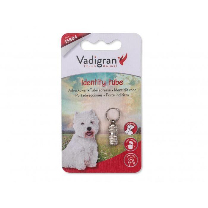 un tube porte adresse sur collier pour chien et chat - couleur argent-Nobby 3,000000
