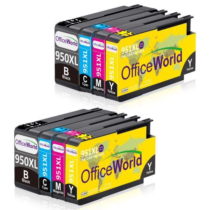 Cartouche d encre HP 950xl 951 xl Grande capacité Compatible avec HP Officejet Pro 8100 8600 8610 8620 8630 8625 251dw 276dw