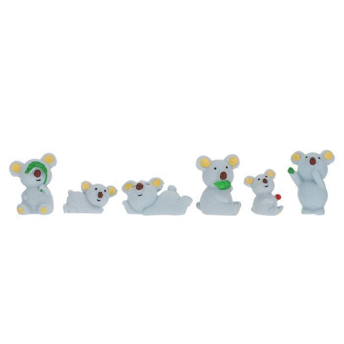6Pcs Miniature Petit Figurine Pot De Fleurs Pelouse Paysage housse de siege - couvre siege confort conducteur passager