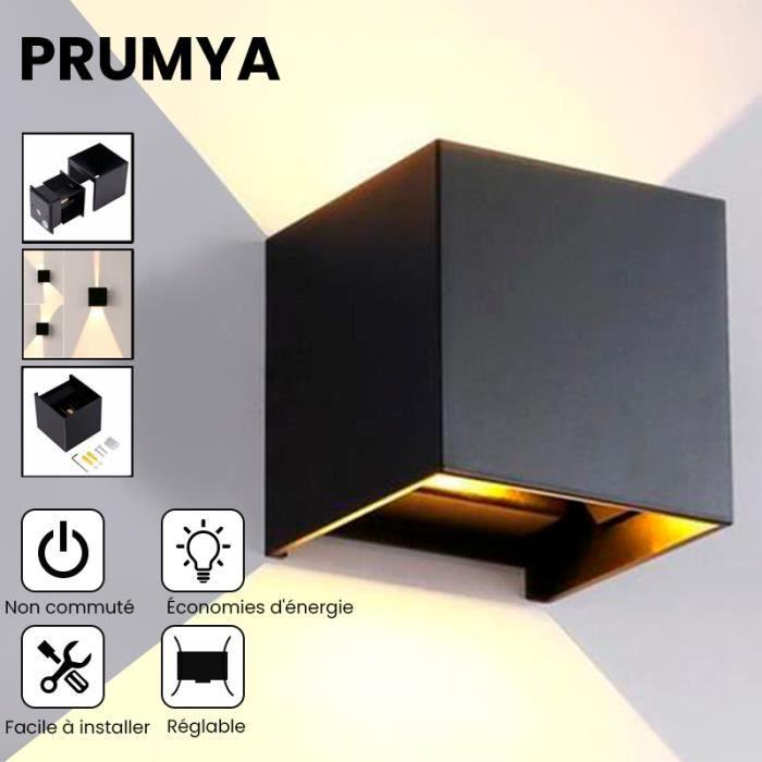 PRUMYA 12W LED Applique Murale Exterieur / Interieur, Detecteur de Movement PIR IP65 Moderne Lumière Blanche - Exterieur/Interie