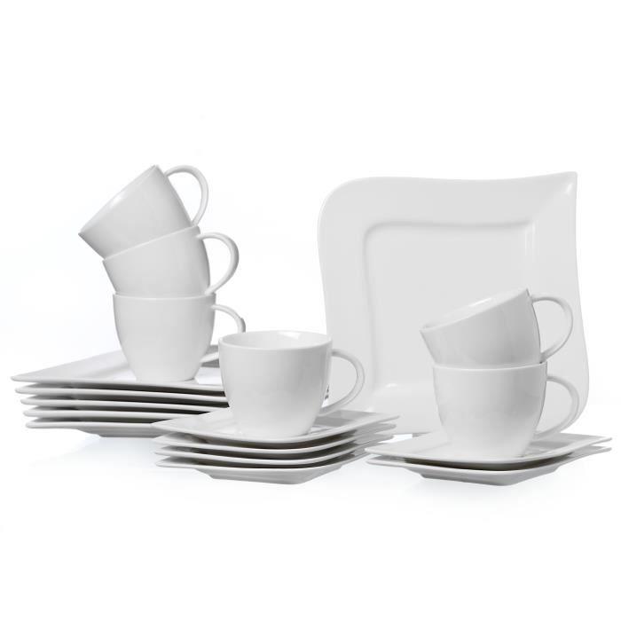Service à Café 18 Pièces Ritzenhoff & Breker Melodie, Porcelaine de Qualité Supérieure, Lavable au Lave-Vaisselle, 580006