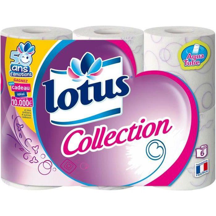 Papier hygiénique aquatube x 6 Lotus